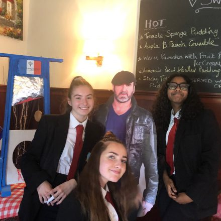 Year 9 and Year 10 students visit French-food restaurant