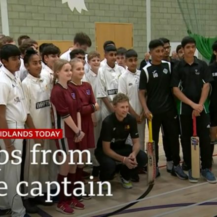 Kaviyan bowled over by England Captain