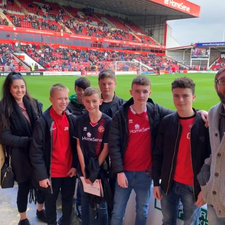 Match day experience with Aspire to H.E.