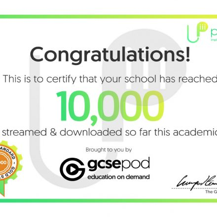 GCSEPod: 10,000 pods reached!