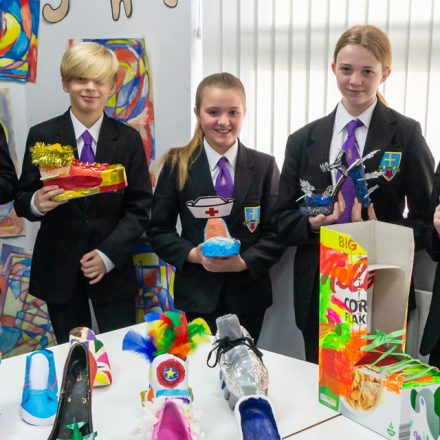 Year 7 crazy shoe competition