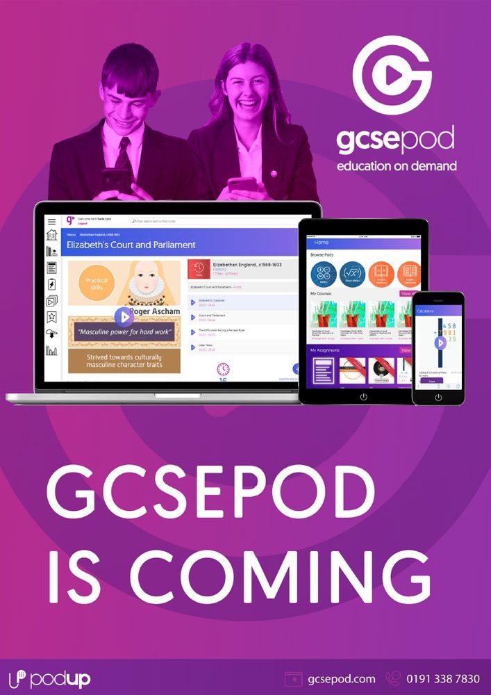 GCSEPod: Coming Soon Poster