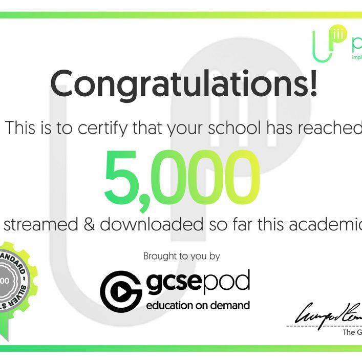 GCSEPod - 5,000 pods reached