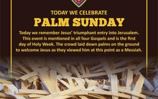 Today we celebrate Palm Sunday