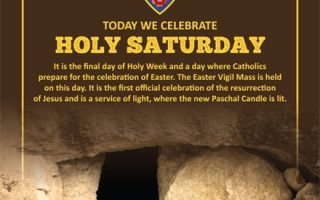 Today we celebrate Holy Saturday