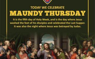Today we celebrate Maundy Thursday