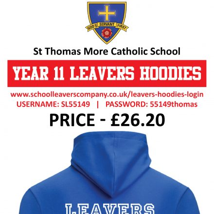Year 11 Leavers Hoodies are now available.