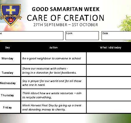 Good Samaritan Week at STM