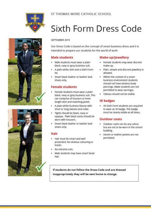 Sixth Form dress code
